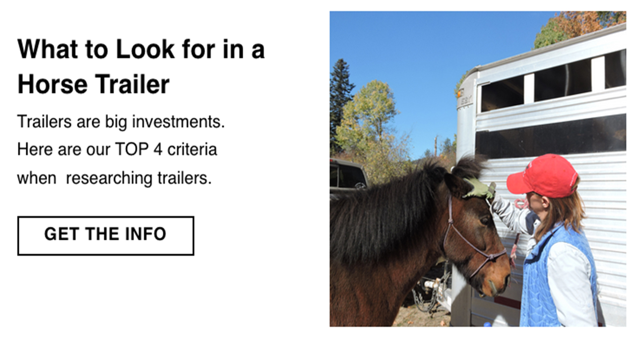 What to look for in a horse trailer