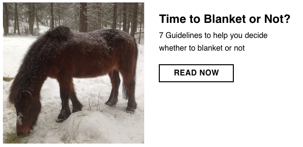 Time to blanket?